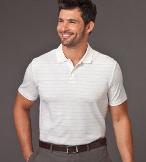 Calvin Klein 13CK019 - Mens Liquid Cotton Stripe Polo