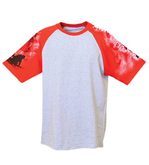 Everyday Life 100-02 - Fire Theme Print Tees