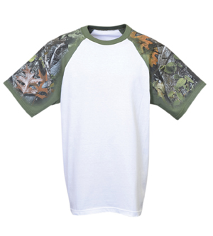 Everyday Life 100-57 - Forest Camo Theme Print Tees