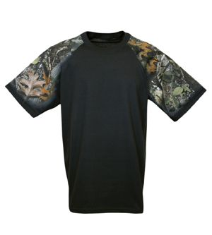 Everyday Life 400-57 - Forest Camo Theme Print Tees