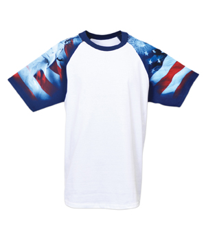 Everyday Life 100-04 - Patriot Print Raglan Jersey Tees
