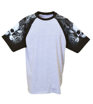Everyday Life 100-47 - Skull & Crossbones Raglan Jersey ...