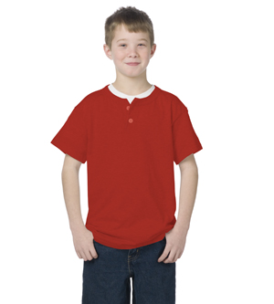 Majestic A181Y - Basic 2-Button Placket Youth Jersey