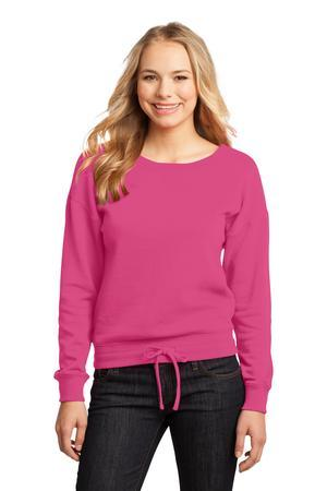 District - Juniors Core Fleece Wide Neck Pullover. DT293