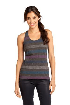 District - Juniors Reverse Striped Scrunched Back Tank....