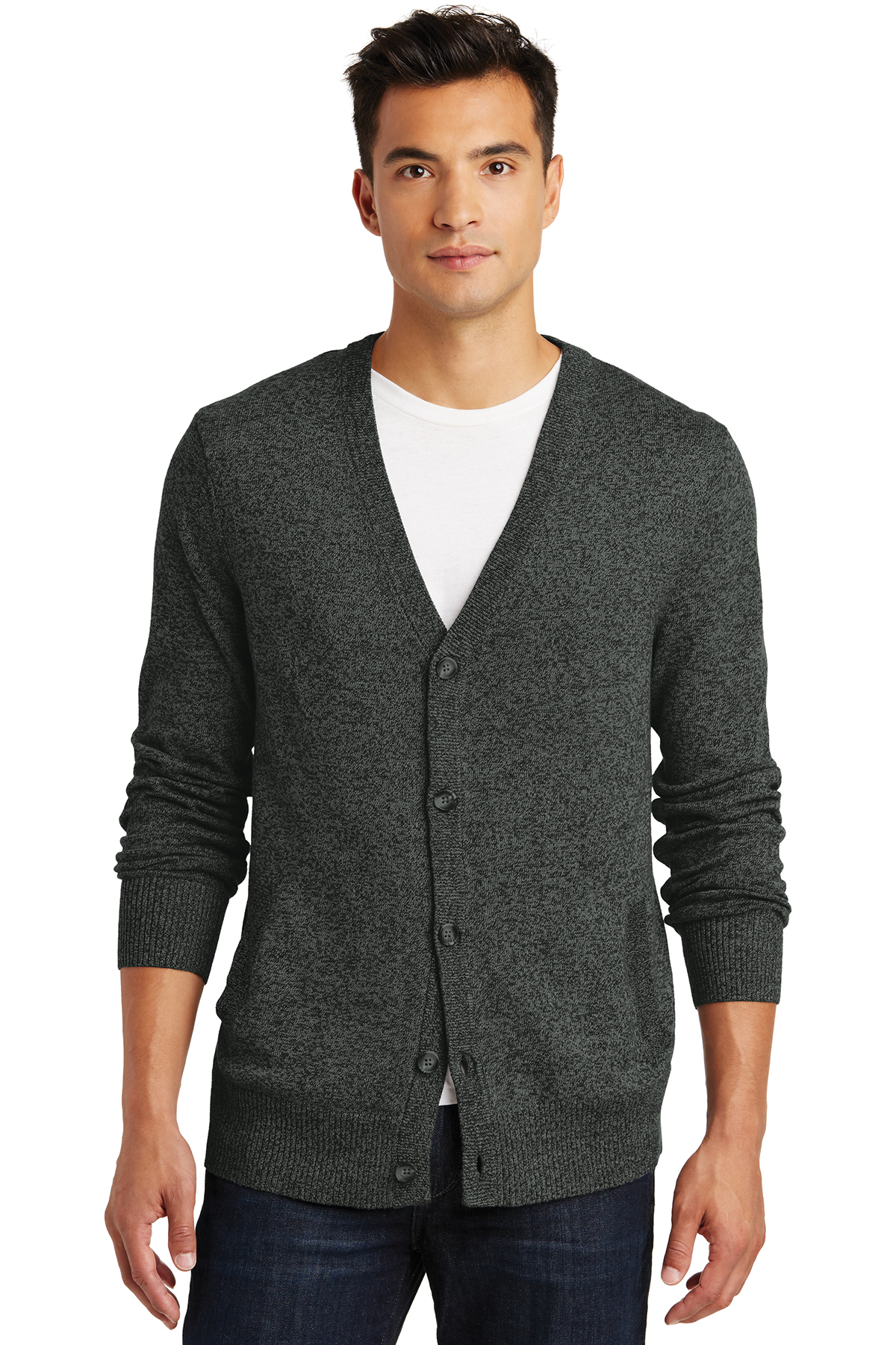 District Made - Mens Cardigan Sweater. DM315