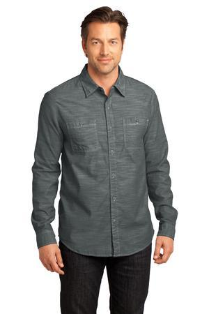 District Made - Mens Long Sleeve Washed Woven Shirt....