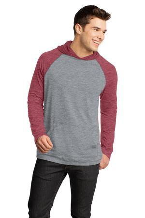 District - Young Mens 50/50 Raglan Hoodie. DT128