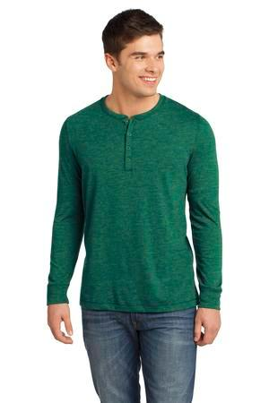 District - Young Mens Gravel 50/50 Long Sleeve Henley ...