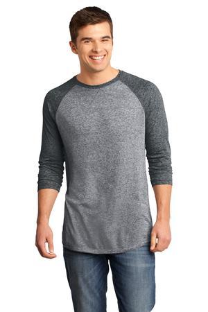 District - Young Mens Microburn 3/4-Sleeve Raglan Tee....