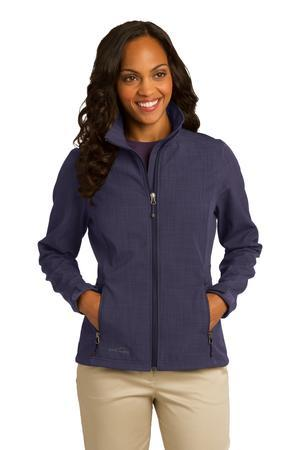 Eddie Bauer Ladies Shaded Crosshatch Soft Shell Jacket....