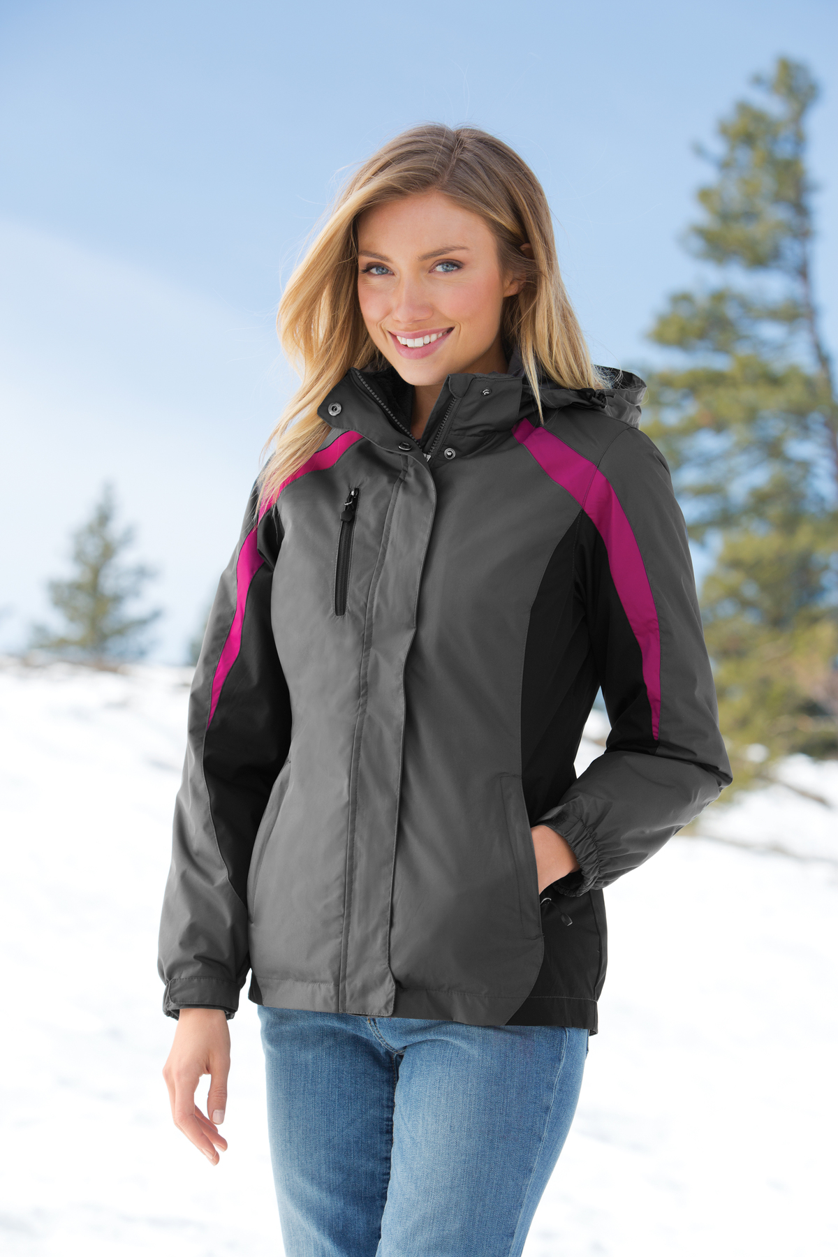 Port Authority® Ladies Colorblock 3-in-1 Jacket....