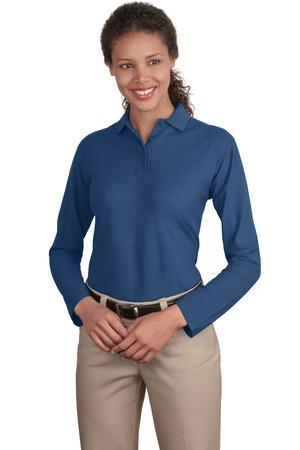 Port Authority® - Ladies Long Sleeve Silk Touch ...