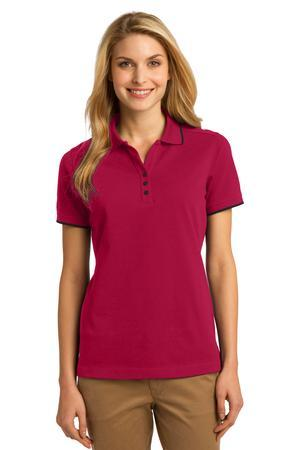 Port Authority® Ladies Rapid Dry Tipped Polo. L454