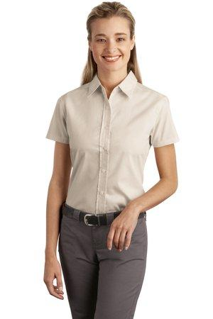 Port Authority® - Ladies Short Sleeve Easy Care ...