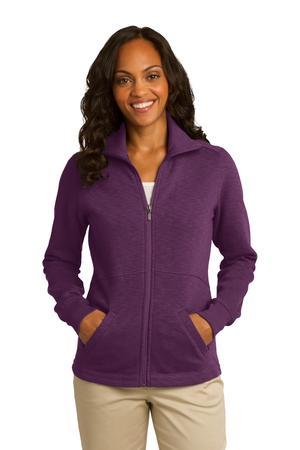 Port Authority® L293 - Ladies Slub Fleece Full-...