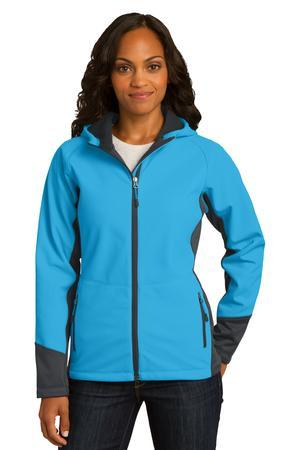 Port Authority® Ladies Vertical Hooded Soft Shell ...