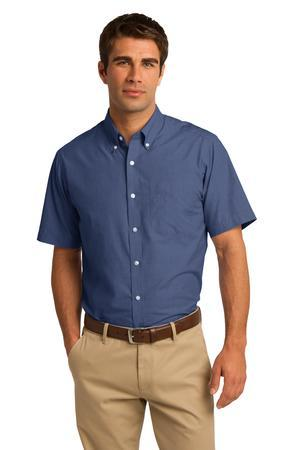 Port Authority® Short Sleeve Crosshatch Easy Care ...