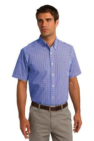 Port Authority® Short Sleeve Gingham Easy Care Shirt....