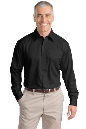 Port Authority® Tall Long Sleeve Non-Iron Twill ...
