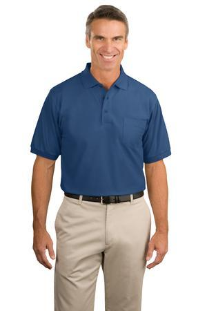 Port Authority® Tall Silk Touch Polo with Pocket....