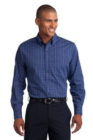 Port Authority® Tall Tattersall Easy Care Shirt....