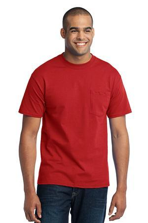 Port & Company Tall 50/50 Cotton/Poly T-Shirt with Pocket....