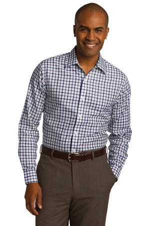 Red House Tricolor Check Slim Fit Non-Iron Shirt. RH74