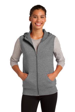 Sport-Tek Ladies Hooded Fleece Vest. LST268