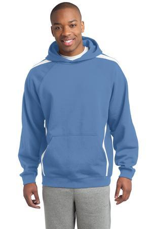 Sport-Tek Tall Sleeve Stripe Pullover Hooded Sweatshirt....