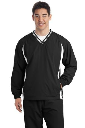 Sport-Tek Tall Tipped V-Neck Raglan Wind Shirt. TJST62