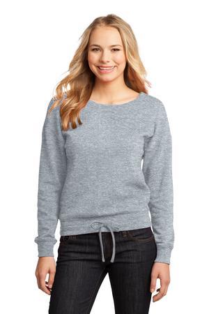 District - Juniors Core Fleece Wide Neck Pullover. DT293