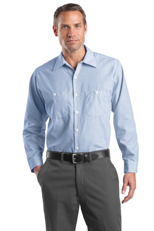 541a41c2f Red Kap Long Size Long Sleeve Striped Industrial Work Shirt. CS10LONG