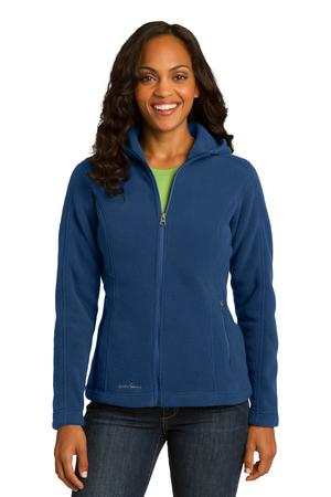 Eddie Bauer Ladies Hooded Full-Zip Fleece Jacket. EB206