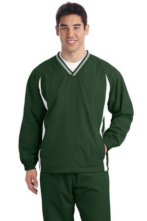 Sport-Tek Tall Tipped V-Neck Raglan Wind Shirt. TJST62