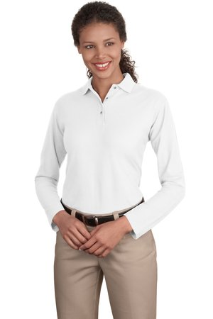 Port Authority® L500LS - Ladies Long Sleeve Silk Touch Polo