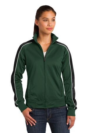 Sport-Tek Ladies Piped Tricot Track Jacket. LST92