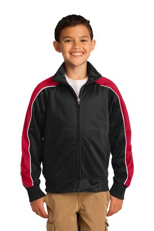Sport-Tek Youth Piped Tricot Track Jacket. YST92