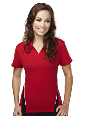 Tri-Mountain 232 女士涤纶舒适短袖运动v领T恤