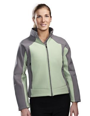 Tri-Mountain 6815 女士撞色拼接全拉链运动休闲外套