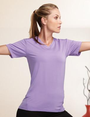 Tri-Mountain KL010 女士V领短袖T恤