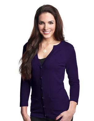 Lilac Bloom LB929 - Women's 3/4 Sleeve Cardigan Sweater