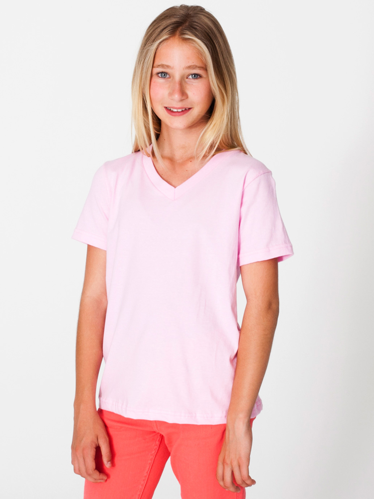American Apparel 2256 - Youth Fine Jersey V-Neck