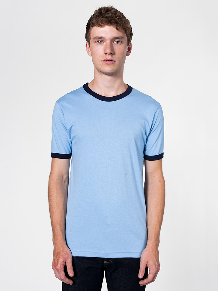 American Apparel 2410 - Fine Jersey Ringer Tee