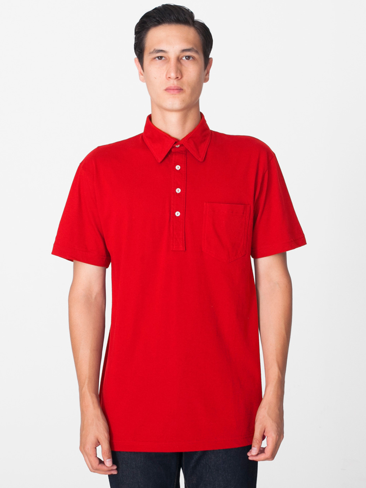 American Apparel 2412 - Unisex Fine Jersey Leisure Shirt