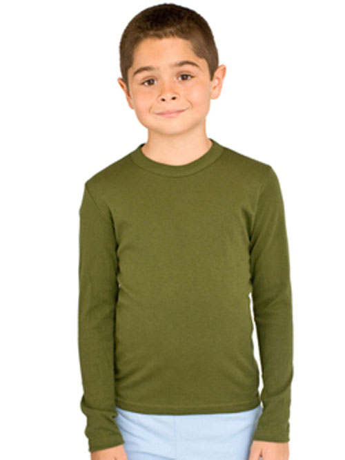 American Apparel 4207 - Youth Baby Rib L/S Tee