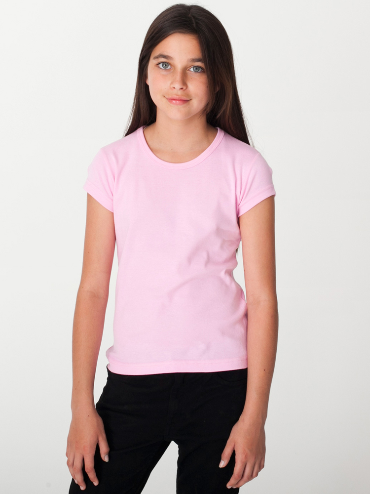 American Apparel 4221 - Youth Baby Rib Cap Sleeve Tee