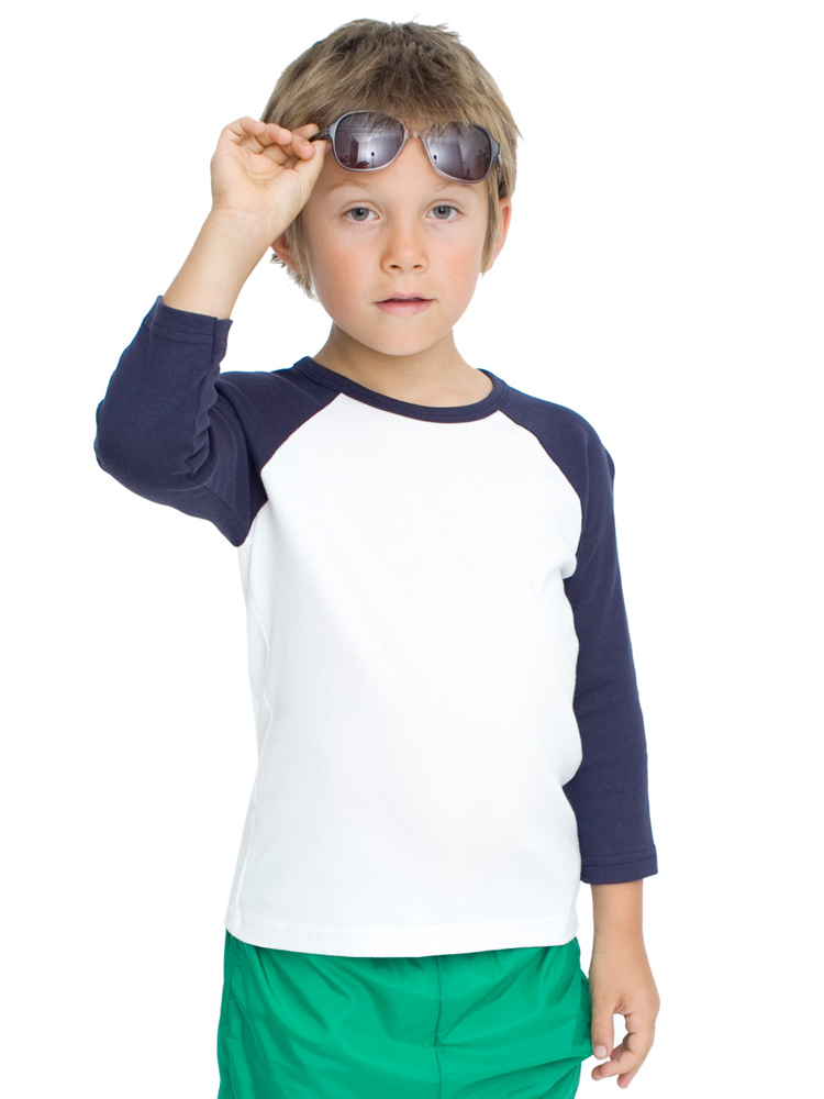 American Apparel 4253 - Youth 3/4 Sleeve Raglan