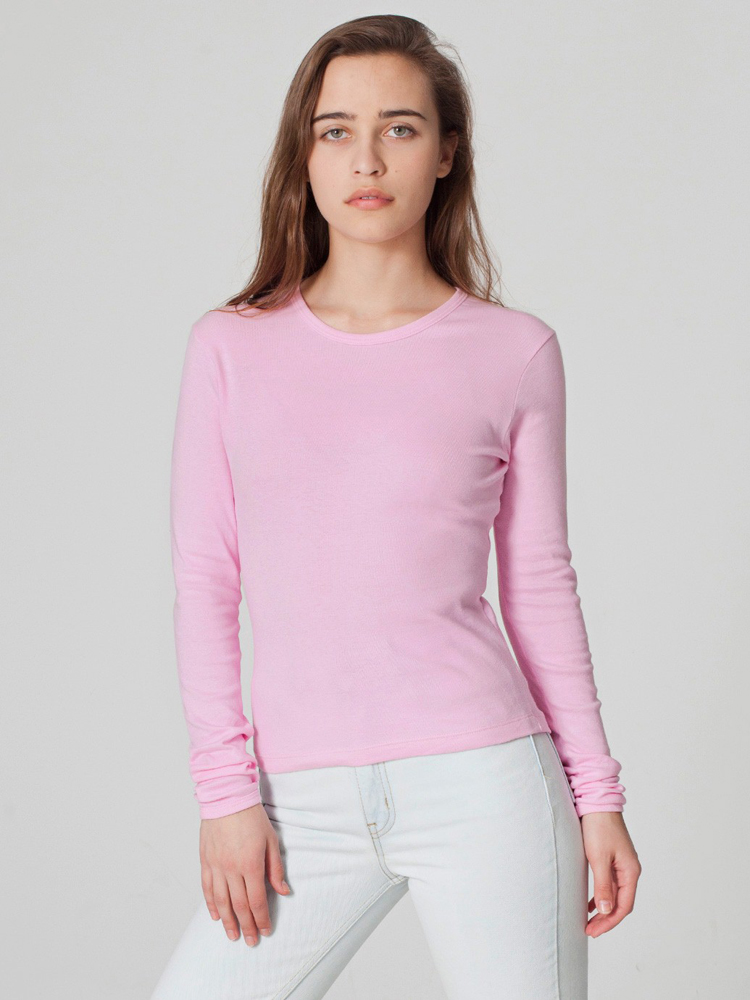 American Apparel 4307 - Baby Rib Long Sleeve Tee
