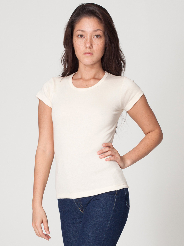 American Apparel 4321 - Girly Basic Cap Sleeve Tee
